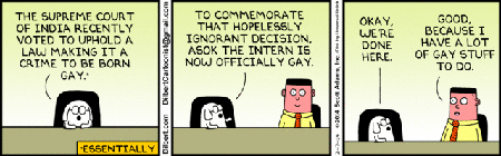 Dilbert Comic Censored By The Hearst Times Union, February 2014