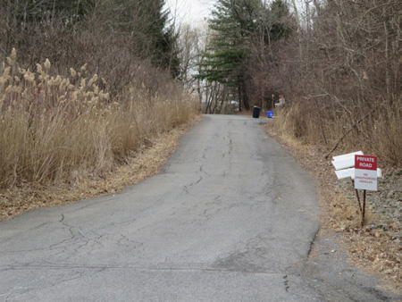 Nondescript Side Road Off Noonan Lane That Leads To The Noonan Mansions
