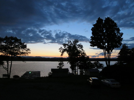 Sunset Over Lake Sacandaga, As Seen From The I Go Inn In Edinburg