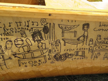 The Tale Of Building One Of The Boats Told With A Sharpie Under The Shellac