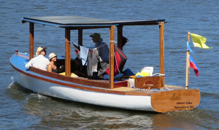 Sun Powered Electric Boat Sol Takes Off