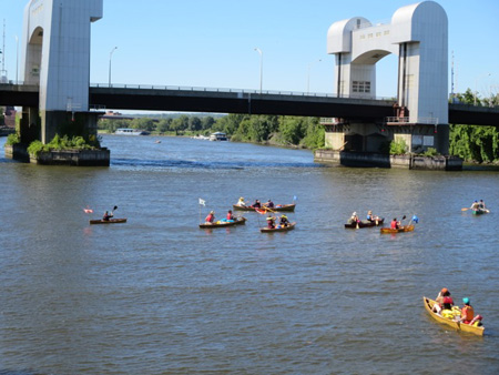 The Flotilla Finally launches From Troy Just Before Noon