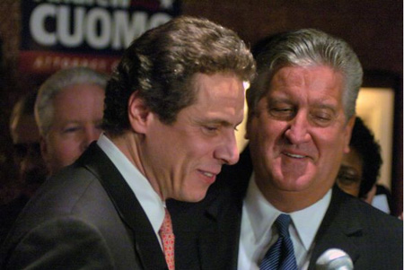 Andrew Cuomo And Former Albany Mayor Jerry Jennings At The Despicable Fort Orange Club, 2005