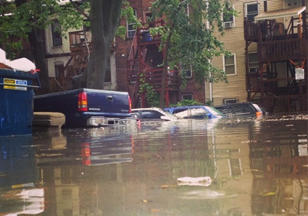 Beaverkill Flooding Behind Elberon Street, August 5, 2014: It Will Happen Again