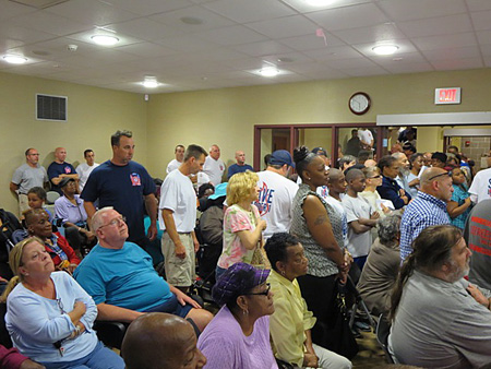 Fire Fighters Disrupt The Meeting With A Planned Walkout