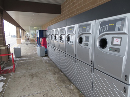 Fancy Recycling Machines Outdoors At The Shop Rite, But None Specifically For Shopping Bags