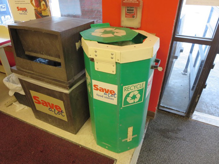Bag Can At The Save-A-Lot, Also Needs More Specific Signage
