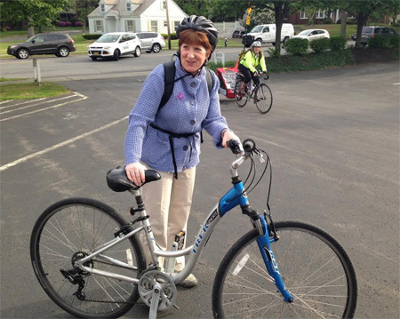 Albany Mayor Kathy Sheehan and Her Bicycle