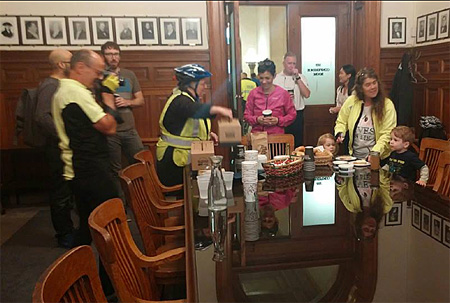 Coffee And Bagels In The Mayor's Conference Room