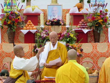 The Senior Monk From Japan Gives A Speech