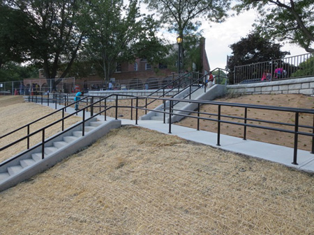 The New Steps At The Lincoln Park Poolhouse