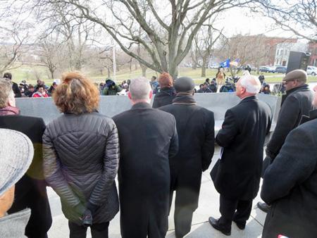 Dignitaries And Proletariat Listen As Mayor Sheehan Confesses To White Privilege