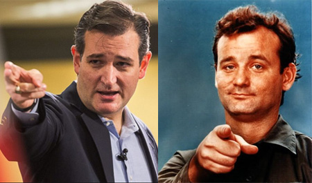 """Ted"" Cruz And A Younger Bill Murray: You're Telling Me They're Not Related?"