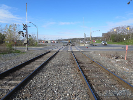 Railroad Tracks At The Entrance To The Port Of Albany:  Where The Action Will Take Place On May 14