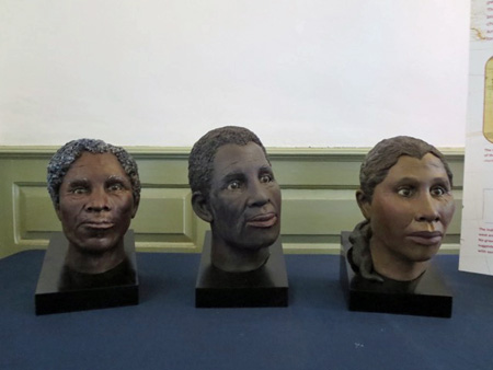 Facial Reconstructions Of Three Of The Adult Schuyler Slaves
