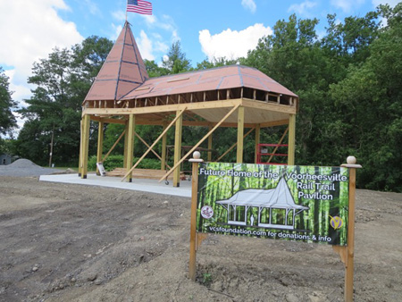 The New Pavilion At The Other End Of The Rail Trail In Vorheesville