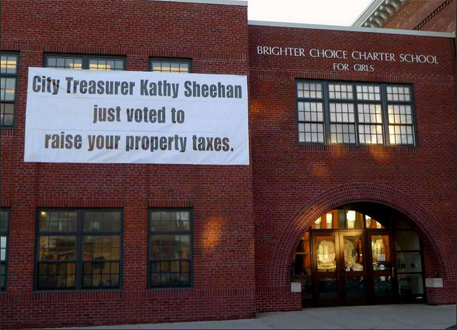The Sign Was A Lie: Then Treasurer Sheehan Protected Albany Taxpayers From Brighter Choice Predation