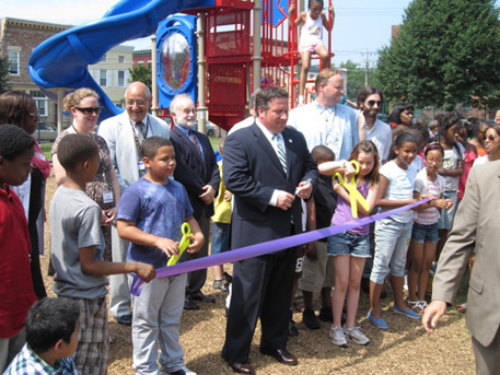 Albany County Executive Dan McCoy Official Reopens The Playground At Griffen Public Elementary School, 2012