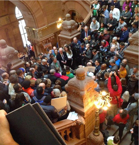 Supporters Of Fair Public School Funding Pack The NY State Capitol, January 2015