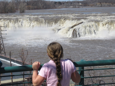 Cohoes Falls, South And Center End, April 2017