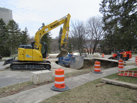 Filling In The Hole In Lincoln Park, Looking For A Long-Lost Drain Line