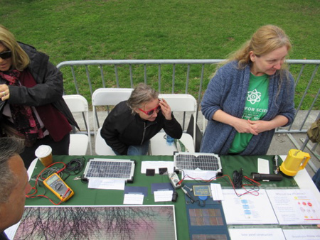 Display Table, Earth Day Science March, Albany NY