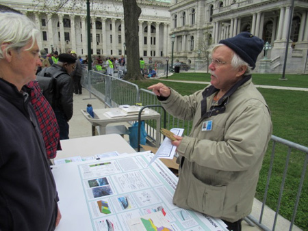 Dr. Ed Landing Explains The Geology Of Fracking, Earth Day Science March, Albany NY