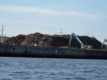 Metallic Waste On The Dock At Rensselaer
