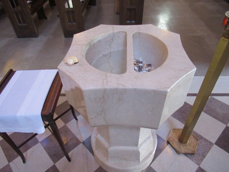 Holy Water Font At The Entrance