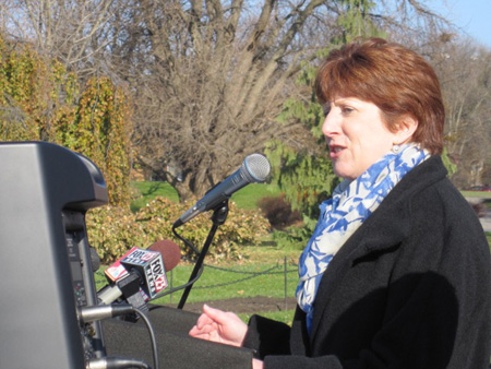 Kathy Sheehan Announcing Her First Mayoral Campaign In Washington Park, March 2013
