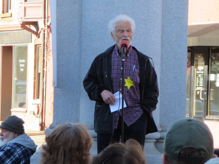 Holocaust Survivor Michael Rice Denounces The Anti-Liberal Agenda Of The Current Federal Administration, Albany NY November 2016