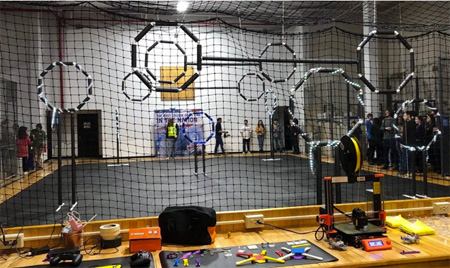 Indoor Drone Research Center Obstacle Course At SUNY Albany, College Courses On Drones Are Becoming Standard
