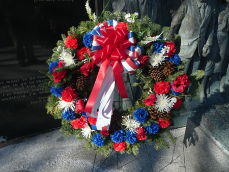 The Wreath Ready To Be Presented To Dr. King