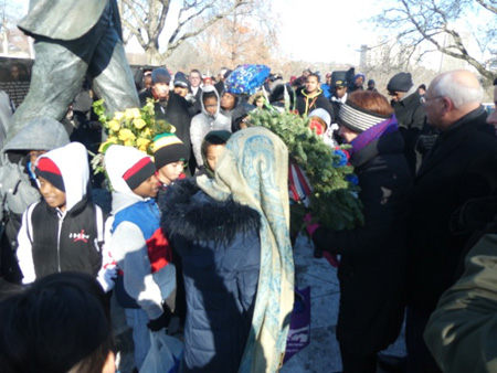 Mayor Sheehan Carries The Wreath