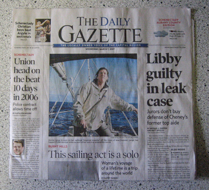 Daily Gazette Front Page